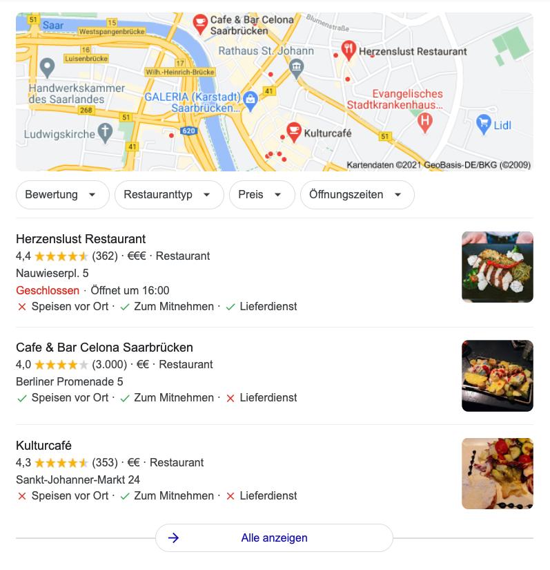 Local-Pack - Google Suchergebnisse - SEO-Guide