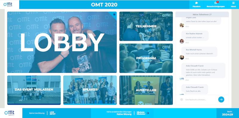 Der OMT 2020 fand erstmals als hybrides Event statt.