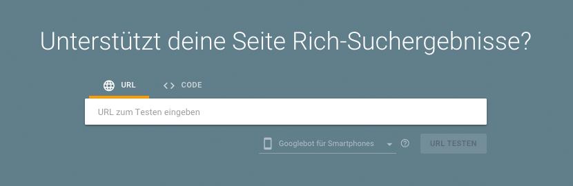 Test für Rich-Suchergebnisse von Google - SEO-Guide