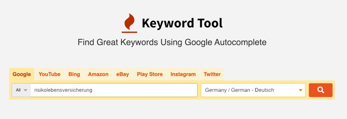 keywordTool - Keyword-Suggest-Tool - SEO-Guide