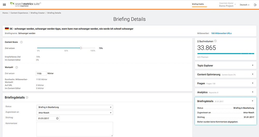 Searchmetrics Content Experience Content Briefing-Details