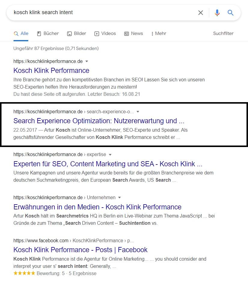 Zu sehen sind Google-Suchergebnisse, die dem Nutzer unabhängig von den genauen SEA-Keywords der Suchanfrage gezeigt werden.